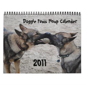 2011 - Doggie Paws Pinup Calender Wall Calendar