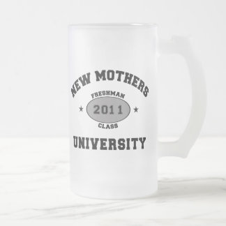 2011 Funny New Mom Frosted Glass Beer Mug