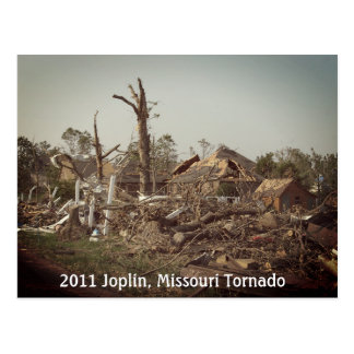 2011 Joplin tornado in Missouri Postcard