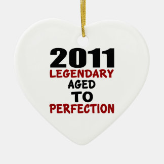 2011 LEGENDARY AGED TO PERFECTION CERAMIC HEART DECORATION