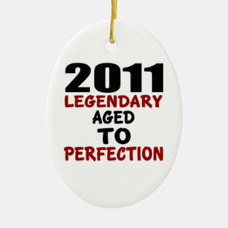 2011 LEGENDARY AGED TO PERFECTION CERAMIC OVAL DECORATION