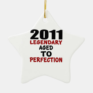 2011 LEGENDARY AGED TO PERFECTION CERAMIC STAR DECORATION
