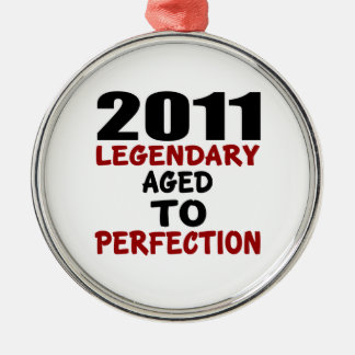 2011 LEGENDARY AGED TO PERFECTION Silver-Colored ROUND DECORATION