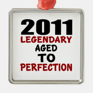 2011 LEGENDARY AGED TO PERFECTION Silver-Colored SQUARE DECORATION