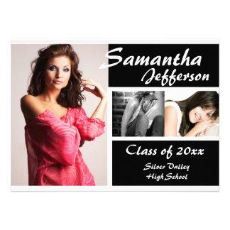 2011 Modern Chic Graduation Announcement, Large
