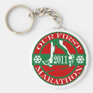 2011 Our First Marathon Basic Round Button Key Ring