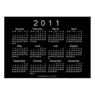 2011 Pocket Calendar Business Card Template