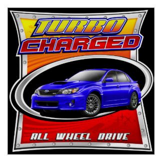 2011 WRX Blue Turbocharged Poster
