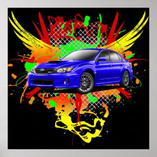 2011 WRX Impreza Blue Graphic Poster