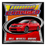 2011 WRX Red Turbocharged Poster
