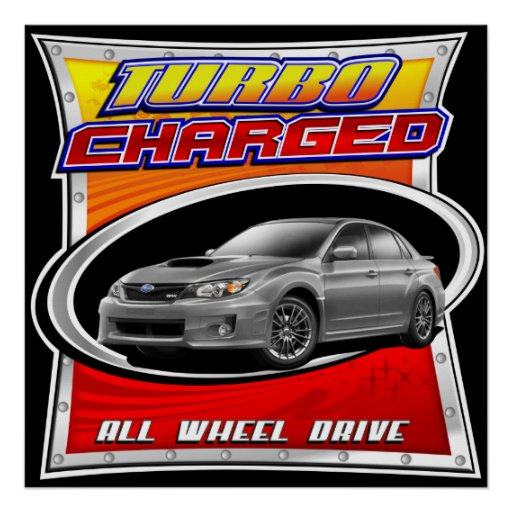 2011 WRX Silver Turbocharged Poster