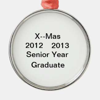2012--2013 Senior Year Graduate Ornament