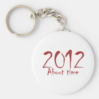 2012 About Time Basic Round Button Key Ring