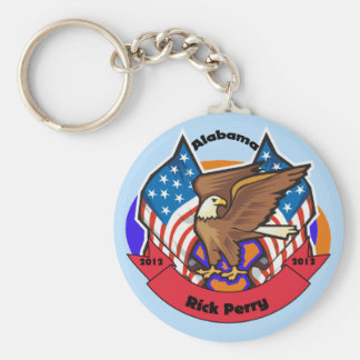 2012 Alabama for Rick Perry Basic Round Button Key Ring