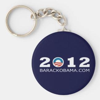 2012 Barack Obama Re-election Design Basic Round Button Key Ring