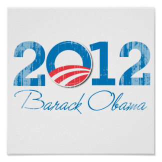 2012 - Barack Obama - Vintage.png Posters