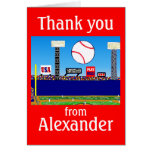 2012 Boys Baseball Personalised Thank You Notes Note Card