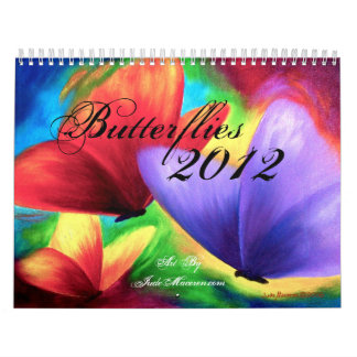 2012 Calendar Butterfly and Flower Painting