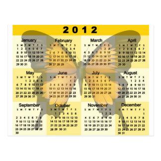 2012 Calendar Butterfly print Post Card