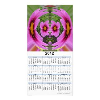2012 Calendar Card - flower swirl Photo Card Template