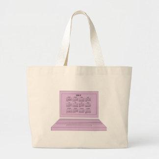 2012 Calendar Jumbo Tote Bag
