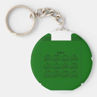 2012 Calendar Key Chains