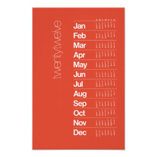 2012 Calendar Poster – Helvetica Grid System