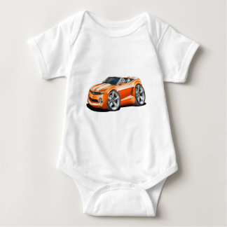 2012 Camaro Orange-White Convertible Baby Bodysuit