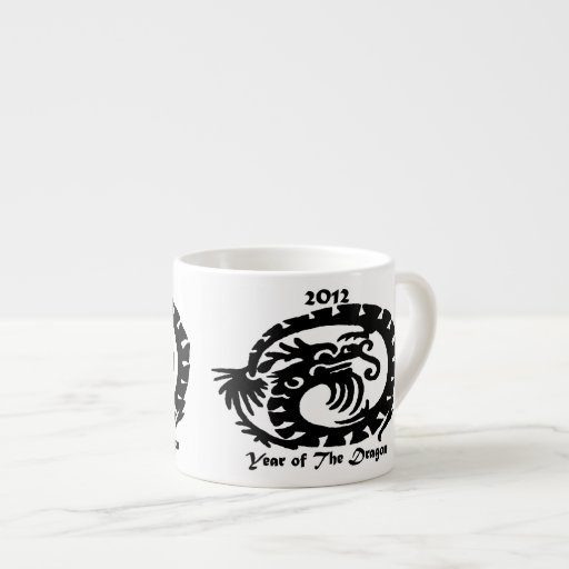 2012 Chinese New Year Dragon Espresso Cups