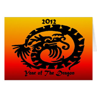 2012 Chinese New Year Dragon Stationery Note Card