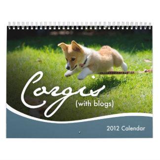 2012 Corgis (with blogs) Wall Calendar