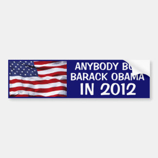 2012 ELECTION - ANYBODY BUT BARACK OBAMA IN 2012 BUMPER STICKER