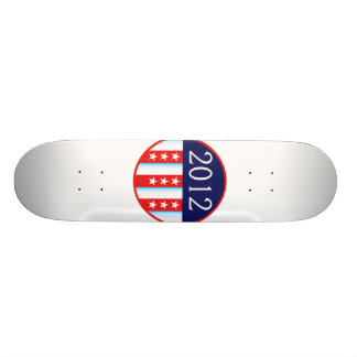 2012 election seal red and blue vote voting 18.1 cm old school skateboard deck