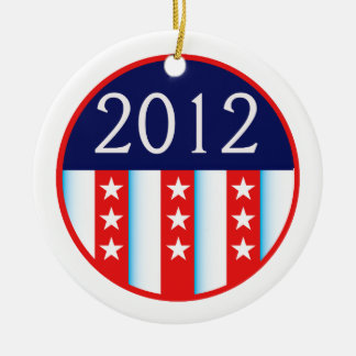 2012 election seal red and blue vote voting ceramic ornament