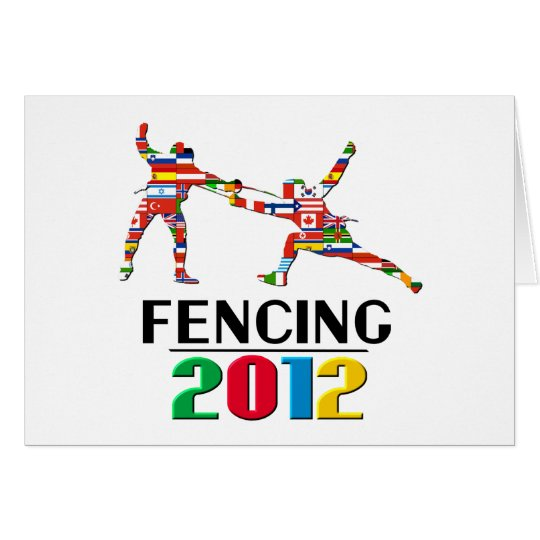 2012: Fencing Greeting Card