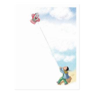 2012 Flying  a Japanese Kite Postcard