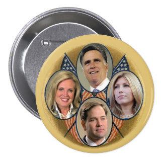 2012 GOP Ticket: Romney / Rubio 7.5 Cm Round Badge
