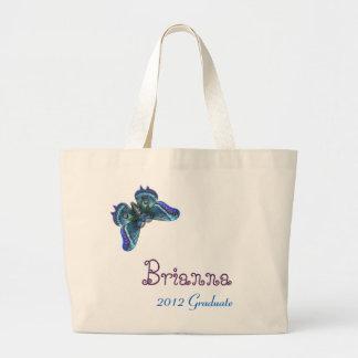 2012 Graduate Butterfly Purple Blue Jumbo Tote Bag