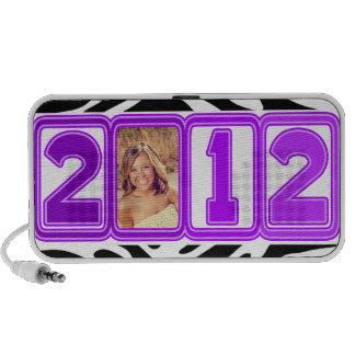 2012 GRADUATE ELECTRIC PURPLE & ZEBRA PHOTO PC SPEAKERS