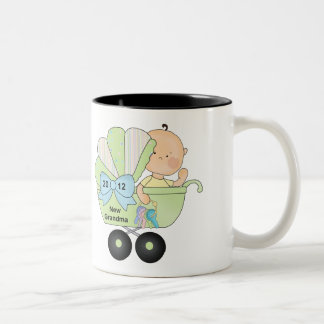2012 Grandma (green) Two-Tone Coffee Mug