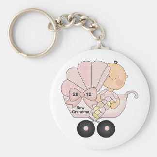 2012 Grandma (pink) Basic Round Button Key Ring