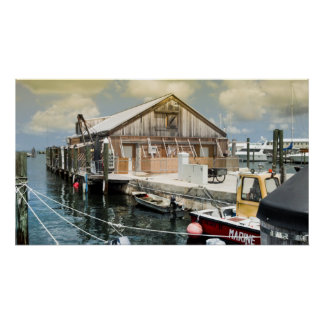 2012 Key West Florida Boat Pier and House Poster