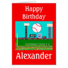 2012 Kid Sport Baseball Personalised Birthday Card