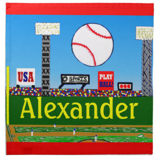 2012 Kids Baseball Personalized Cloth Napkins Gift