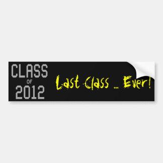 2012 Last Class Bumper Sticker