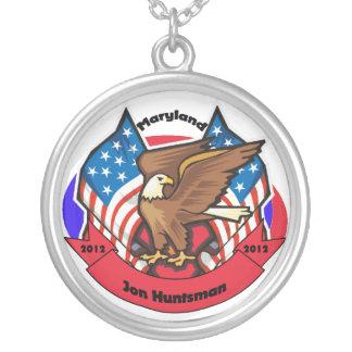 2012 Maryland for Jon Huntsman Round Pendant Necklace