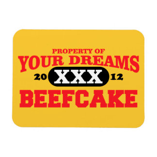 2012 only in your dreams team beefcake vinyl magnets