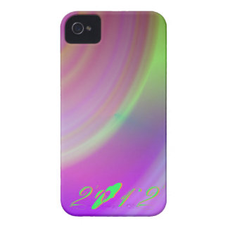 2012 Pink And Green Blackberry Case