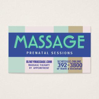 2012 prenatal massage pastel business card