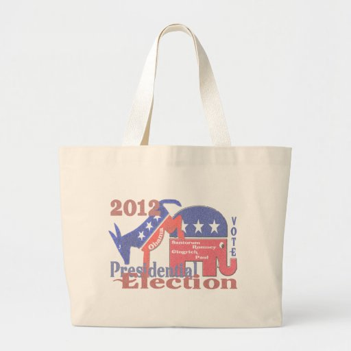 2012 Presidential Election Canvas Bags